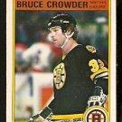 BOSTON BRUINS BRUCE CROWDER ROOKIE CARD RC 1982 OPC O PEE CHEE # 9 NR MT