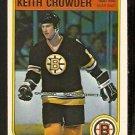 Boston Bruins Keith Crowder Rookie Card Rc 1982 Opc O Pee Chee # 10 Nr Mt