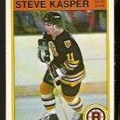 Boston Bruins Steve Kasper 1982 Opc O Pee Chee # 12 Nr Mt