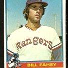 TEXAS RANGERS BILL FAHEY 1976 TOPPS # 436 VG