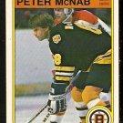 BOSTON BRUINS PETER McNAB 1982 OPC O PEE CHEE # 16 EM/NM