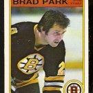 BOSTON BRUINS BRAD PARK 1982 OPC O PEE CHEE # 19 NR MT
