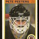 BOSTON BRUINS PETE PEETERS 1982 OPC O PEE CHEE # 22 EX