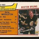 BOSTON BRUINS TEAM LEADERS RICK MIDDLETON 1983 OPC O PEE CHEE # 43 NR MT