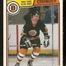 BOSTON BRUINS BRUCE CROWDER 1983 OPC O PEE CHEE # 46  VG