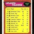 ATLANTA FALCONS TEAM CHECKLIST 1976 TOPPS # 451 VG/EX marked