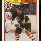 BOSTON BRUINS GORD KLUZAK ROOKIE CARD RC 1983 OPC O PEE CHEE # 51 NR MT