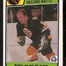BOSTON BRUINS RICK MIDDLETON RECORD BREAKER 1983 OPC O PEE CHEE # 214 EM/NM