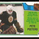 BOSTON BRUINS PETE PEETERS GOALS AGAINST AVERAGE LEADER GAA 1983 OPC O PEE CHEE # 221 NM