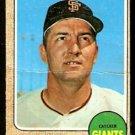 SAN FRANCISCO GIANTS TOM HALLER 1968 TOPPS # 185 fair/good