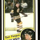 BOSTON BRUINS TOM FERGUS 1984 TOPPS # 3 NR MT