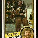 Boston Bruins Doug Keans Rookie Card Rc 1984 Topps # 4 Nm