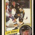 BOSTON BRUINS LUC DUFOUR 1984 O PEE CHEE OPC # 3