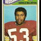 WASHINGTON REDSKINS HAROLD McLINTON 1977 TOPPS # 31 VG
