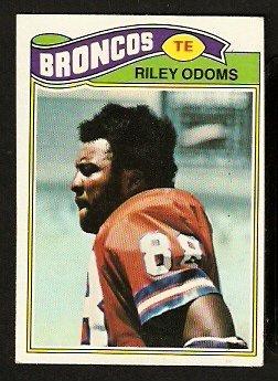 DENVER BRONCOS RILEY ODOMS 1977 TOPPS # 35 VG