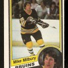1984-85 O-Pee-Chee OPC Hockey Card # 10 Boston Bruins Mike Milbury nr mt
