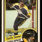 BOSTON BRUINS CHARLIE SIMMER 1984 OPC O PEE CHEE # 90