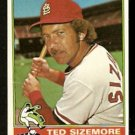 ST LOUIS CARDINALS TED SIZEMORE 1976 TOPPS # 522 VG