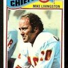 KANSAS CITY CHIEFS MIKE LIVINGSTON 1977 TOPPS # 58 VG