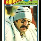 OAKLAND RAIDERS MONTE JOHNSON 1977 TOPPS # 77 EM/NM