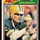 GREEN BAY PACKERS DAVE BEVERLY 1977 TOPPS # 78 VG