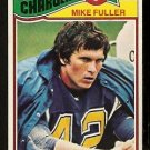 SAN DIEGO CHARGERS MIKE FULLER ROOKIE CARD RC 1977 TOPPS # 116 EX