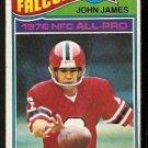 ATLANTA FALCONS JOHN JAMES 1977 TOPPS # 120 VG