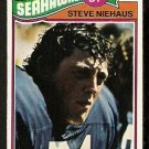 SEATTLE SEAHAWKS STEVE NIEHAUS ROOKIE CARD RC 1977 TOPPS # 132 VG/EX