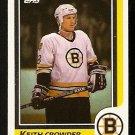 BOSTON BRUINS KEITH CROWDER 1986 TOPPS # 130 NR MT
