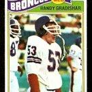 Denver Broncos Randy Gradishar 1977 Topps Football Card # 179 vg/ex