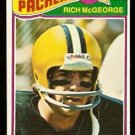 GREEN BAY PACKERS RICH McGEORGE 1977 TOPPS # 187 G/VG