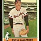 BALTIMORE ORIOLES DOYLE ALEXANDER 1976 TOPPS # 638 VG