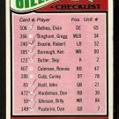 HOUSTON OILERS TEAM CHECKLIST 1977 TOPPS # 211 marked