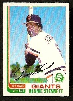 SAN FRANCISCO GIANTS RENNIE STENNETT 1982 O PEE CHEE OPC # 84 NR MT