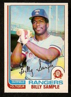 TEXAS RANGERS BILLY SAMPLE 1982 O PEE CHEE OPC # 112 NR MT