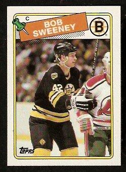 BOSTON BRUINS BOB SWEENEY ROOKIE CARD RC 1988 TOPPS # 134