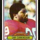 NEW ENGLAND PATRIOTS SAM CUNNINGHAM 1980 TOPPS # 119 VG/EX