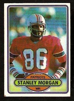 NEW ENGLAND PATRIOTS STANLEY MORGAN 1980 TOPPS # 491 VG