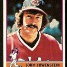 CLEVELAND INDIANS JOHN LOWENSTEIN 1976 TOPPS # 646 VG