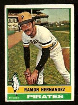 PITTSBURGH PIRATES RAMON HERNANDEZ 1976 TOPPS # 647 VG
