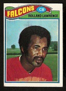 ATLANTA FALCONS ROLLAND LAWRENCE 1977 TOPPS # 242 EX