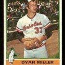 BALTIMORE ORIOLES DYAR MILLER 1976 TOPPS # 555 G/VG