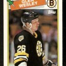 BOSTON BRUINS GLEN WESLEY ROOKIE CARD RC 1988 TOPPS # 166 NR MT