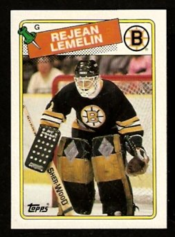 BOSTON BRUINS REJEAN LEMELIN 1988 TOPPS # 186 NR MT