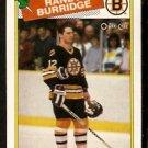 BOSTON BRUINS RANDY BURRIDGE 1988 OPC O PEE CHEE # 33 NR MT