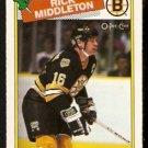BOSTON BRUINS RICK MIDDLETON 1988 OPC O PEE CHEE # 87 NR MT