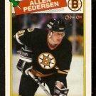 BOSTON BRUINS ALLEN PEDERSEN 1988 OPC O PEE CHEE # 103 NR MT