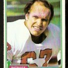 NEW ENGLAND PATRIOTS BILL LENKAITIS 1981 TOPPS # 268 NR MT