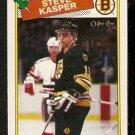 BOSTON BRUINS STEVE KASPER 1988 OPC O PEE CHEE # 176