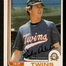 MINNESOTA TWINS MICKEY HATCHER 1982 OPC O PEE CHEE # 291